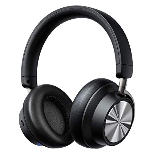 Hybrid Active Noise Cancelling Headphones iTeknic Bluetooth Headphones with Microphone Deep Bass [2019 Upgraded] Wireless On-Ear Headphones 30 Hours Playtime for Travel Work Cellphone TV