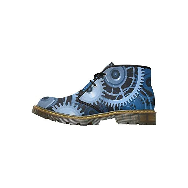 INTERESTPRINT CaseCastle Shoes Steampunk Men's Nubuck Chukka Boots 3