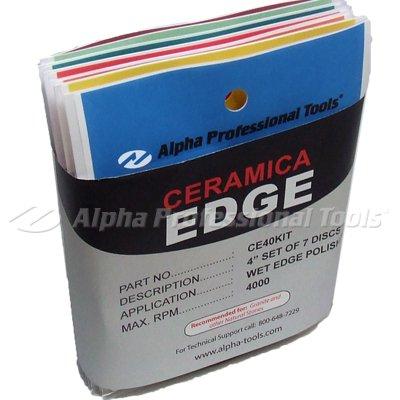 Alpha Ceramica Edge Pads Set (80-300 Grit) by Alpha