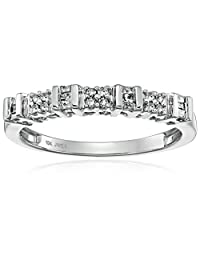 10k White Gold Diamond Anniversary Ring (1/6 cttw, I-J Color, I2-I3 Clarity)