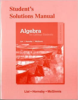 Book Student's Solutions Manual for Algebra for College Students