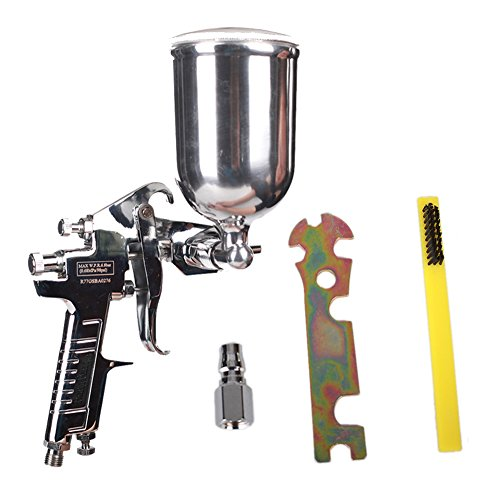 Ouya R77G Spray Gun Gravity Feed Paint Sprayer for Primer Spraying Nozzle Size 3.0mm 400cc Aluminum Cup by Ouya (Image #5)