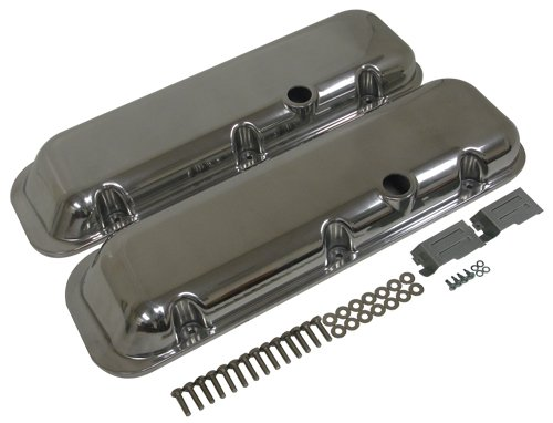 1965-95 CHEVY BIG BLOCK 396-427-454-502 SHORT POLISHED ALUMINUM VALVE COVERS - (Aluminum Short Valve Cover)
