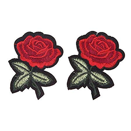 Patches - 6pcs Set 3d Rose Flower Lace Embroidery Patch Stickers Garment Applique Patches Cord Clothing - Xbox Lightning Black Power Lidoderm Grade Naruto Los Countries Acne