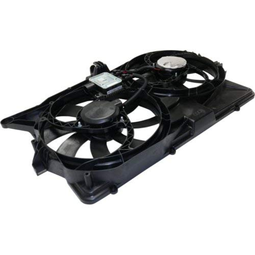 Cooling Fan Assembly Compatible with FORD FLEX 2009 Dual Fan 3.5L Engine