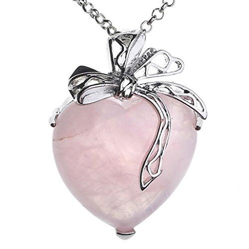 Quartz Heart Charm - 4