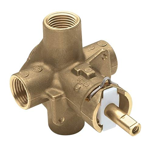 MOEN 2510 M-Pact Brass Posi-Temp Pressure Balancing Tub and Shower Valve, 1/2-Inch IPS Connections, 0.5, or Unfinished