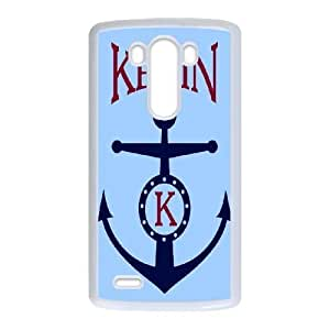Nvraf Unique Phone Cases LG G3 Cell Phone Case White Anchor Quotes Plastic Durable Cover