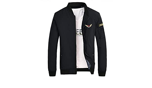 Amazon.com: Mens jackets thick casual jacket fashion wild cotton clothes to warm the young pilot.: Sports & Outdoors