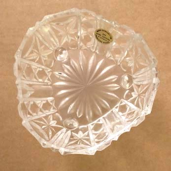 (Princess House W. Germany 24% Lead Crystal 3 Footed Bowl )