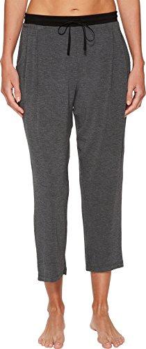 Donna Karan Women's Modal Spandex Jersey Capri Pants Charcoal Heather Large