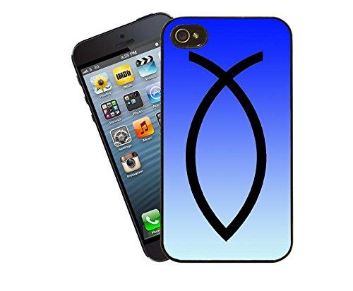 Christianisme Jesus Fish bleu - Apple iPhone Etui 4 et 4 s - couvrir religieuse chrétienne par les idées de cadeaux de Eclipse
