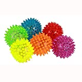 4pcs/lot Spike Ball Light Up Balls Toys for Kids and Babies,Bright Color LED Flashing Bounce Ball Massage Sensory Spikey Ball for Children Boys Girls