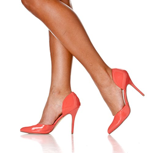 D'Orsay Women's Nora Riverberry Patent Pump Heels Slip Coral On Pointed Toe wYxggFdf