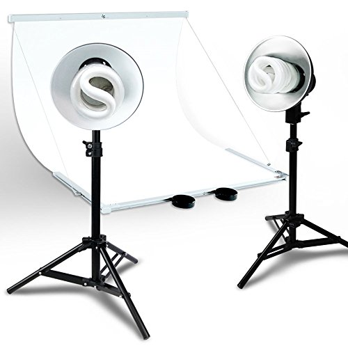 Julius Studio Foldable Studio Lighting Photo Shooting Table, Digital Photo Portable Ecommerce Business Shooting Table, White Background, JSAG267