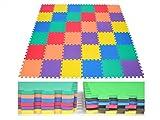 EWONDERWORLD 36 Piece Interlocking Kid's Puzzle Play Foam Mat - Exercise Mat, Extra Thick Tiles, Baby Floor Mat