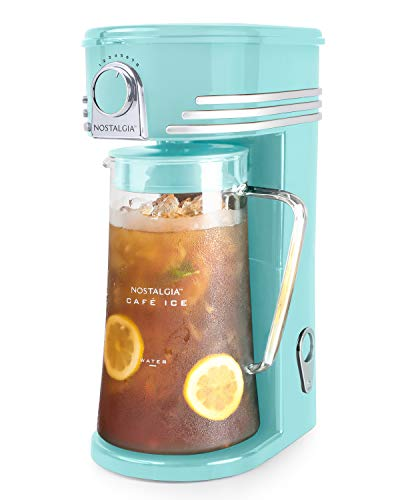 Nostalgia CI3AQ Café 3-Quart Iced Coffee and Tea Brewing System, Aqua
