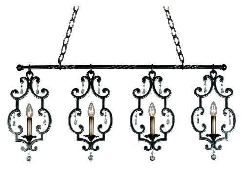 (Kalco 2635AC Island Lights with Shades, Antique Copper)
