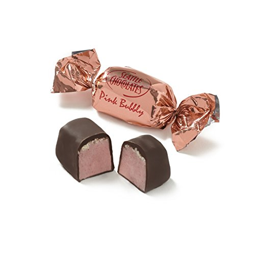 Seattle Chocolates Pink Bubbly Bulk Truffles, 5 Pound
