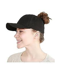 Jiuhexu Womens Ponycap Messy High Bun Baseball Cap Hat Ponytail