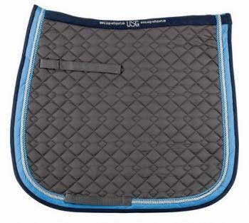 USG KL Select Quilted Dressage Pad (Anthracite/Light Blue/Navy)