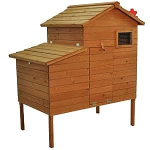 Pawhut Outdoor Raised Leg Hen House Chicken Coop