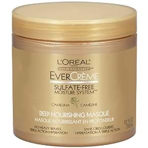 L'Oreal Paris EverCreme Sulfate-Free Moisture System Deep Nourishing Hair Masque, 5.1 Fluid Ounce