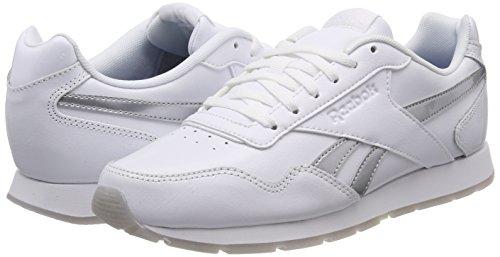 De Royal Chaussures Blanches Reebok Fitness Glide Femmes Pour Mtallises Argentes blanches qSE1aEdrWn
