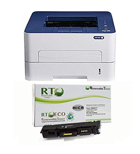 Renewable Toner Phaser 3260DI Wireless Monochrome Laser Check Printer Bundle with Compatible Xerox 106R02775 MICR Toner Cartridge ()