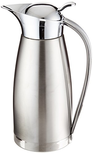 Oggi Clarisa Satin Finish Stainless Steel 54 Ounce Thermal Vacuum Carafe (Satin Finish Thermal Carafe)
