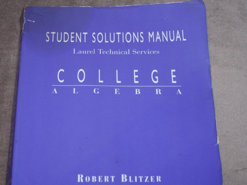 College Algebra: Student Solutions Manual