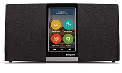 Sungale Wi-Fi Internet Radio with User Friendly Touchscreen Navigation, listen to thousands of radio stations & streaming music through an assortment of popular apps from Sungale Group Inc.