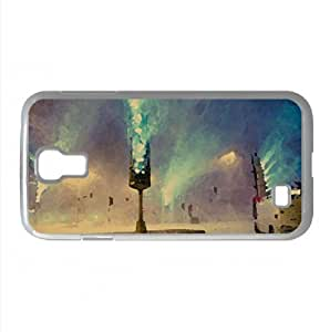 City Snow Storm Watercolor style Cover Samsung Galaxy S4 I9500 Case (Winter Watercolor style Cover Samsung Galaxy S4 I9500 Case)