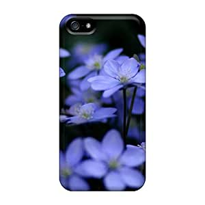 Premium Delicate Flowers Back Cover Snap On Case For Iphone 5/5s