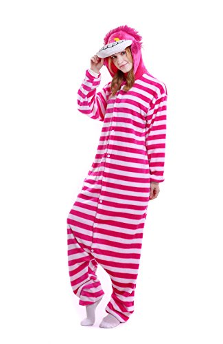 Yutown Unisex-adult Animal Onesie Pajamas Kigurumi Cosplay Costume Cheshire Cat XL - Cheshire Cat Costume Male