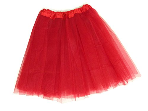 Adult Teens Ballet Tutu Skirt By Mystiqueshapes (Red)