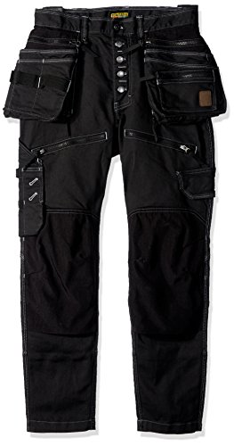Blaklader 199911419900C46 Stretch Craftsman Trousers, Size 32/32, Black by Blaklader (Image #2)