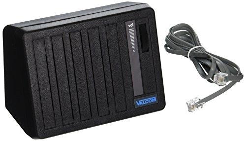 Valcom V-763-BK One Way Desktop and Wall Speaker, Black