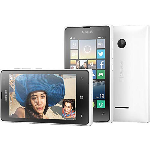 Microsoft Lumia 435 Windows 8 GSM Smartphone, No Contract, T-Mobile, White (Renewed) (Windows Phones Unlocked Gsm)