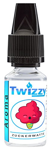 10ml Twizzy® Zuckerwatte Aroma | Für Shakes, Backen, Cocktails, Eis | Für Dampf Liquid und E-Shishas | Flav Drops | Ohne…