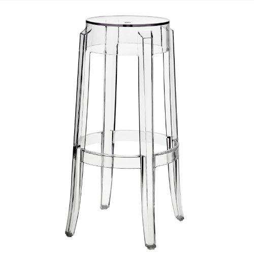 Modway Philippe Starck Style Charles Ghost Bar Stool (set of 2) (Bar Acrylic Stool Modern)