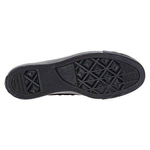 Converse Chuck Taylor All Star Core Tela Alta Cima Sneaker Monocromo Nero