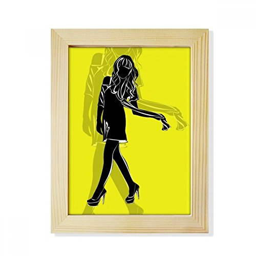 DIYthinker Silhouette Slim Beauty Woman Desktop Wooden Photo Frame Picture Art Painting 6x8 inch by DIYthinker