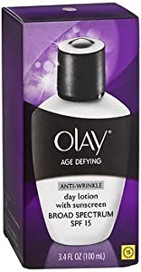 OLAY Age Defying Anti-Wrinkle Daily SPF 15 Lotion 3.40 oz (Pack of 4) BareMinerals - Bare Haven Essential Moisturizing Soft Cream - Normal To Dry Skin Types -50g/1.7oz