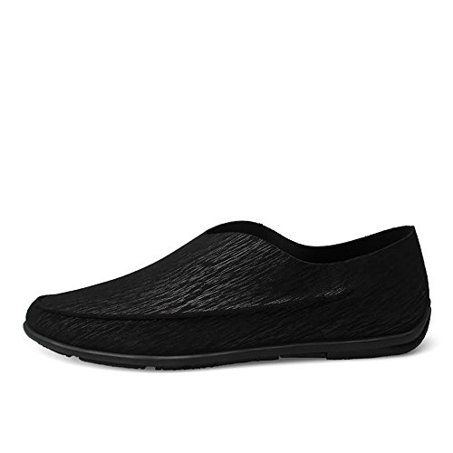 unita barca Mocassini Color da 47 Meimei Minimalism Loafer Dimensione Nero Mens shoes Driving Nero EU tinta zx0pwUq
