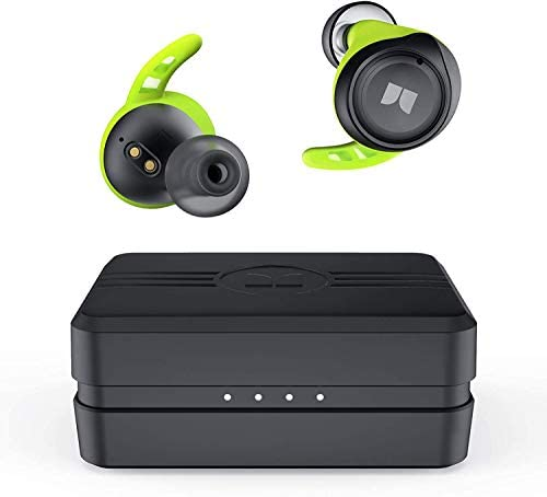 Monster Isport Champion True Wireless Earbuds,Bluetooth 5.0 Headphones with aptX Deep Bass,CVC 8.0 Noise Cancellation, IPX8 Waterproof,Type C Quick Charge Earphones for iPhones and Android