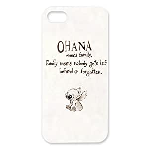 DiyCaseStore Custom Disney Animation Lilo and Stitch iPhone ipod touch4 Case Cover - Ohana means family,family means nobody gets left behind,or forgotten.