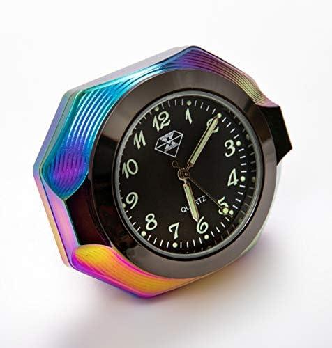 Selbstklebende Mini Digital-Uhr LCD für PKW Auto Motorrad Boot und Caravan