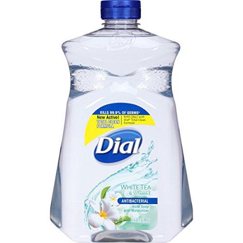 Dial Antibacterial Liquid Hand Soap Refill, White Tea & Vita