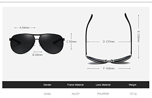 Gray JCH Gafas de Marca de Gafas Sol Gafas BLUE con de de Sol Sol de Retro Gafas Hombres Espejo polarizadas polarizado Espejo diseñador O1wOqr